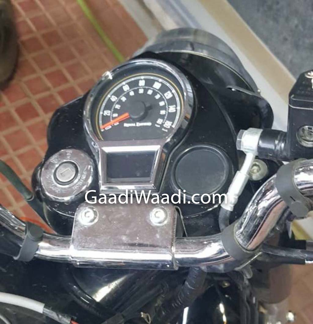 Royal Enfield Classic instrument cluster