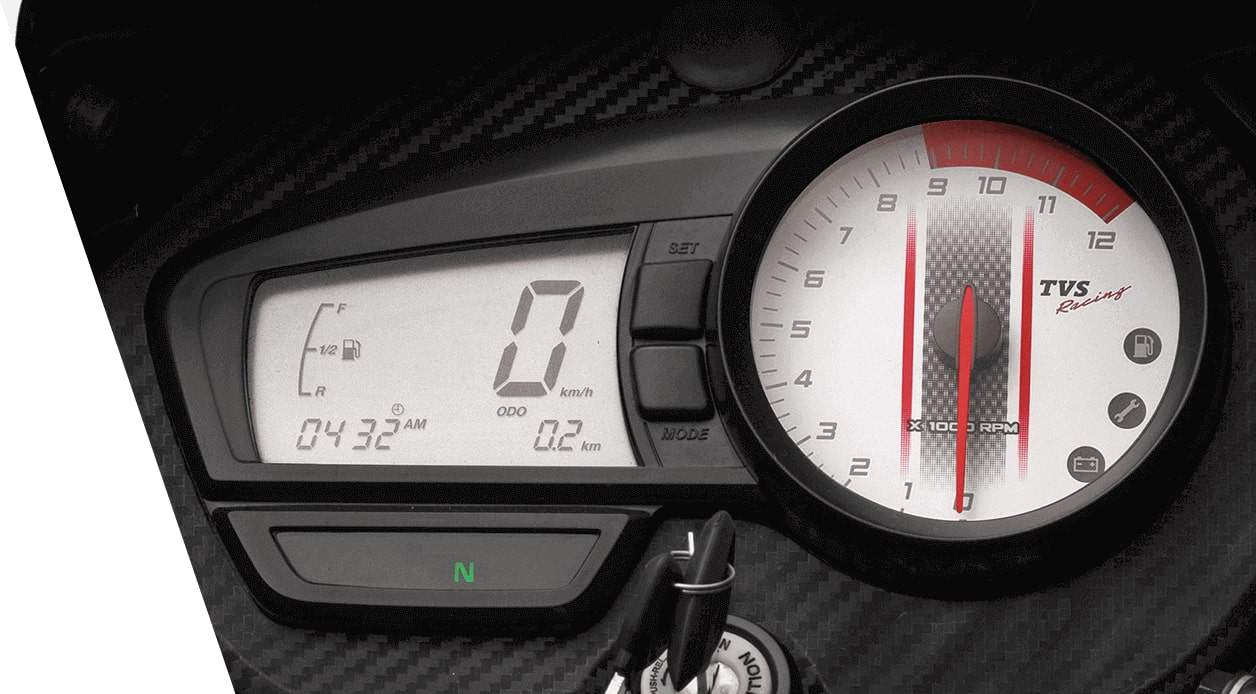 tvs apache rtr 180 cluster