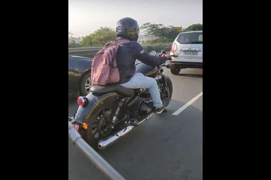 Royal Enfield 650 cruiser spied