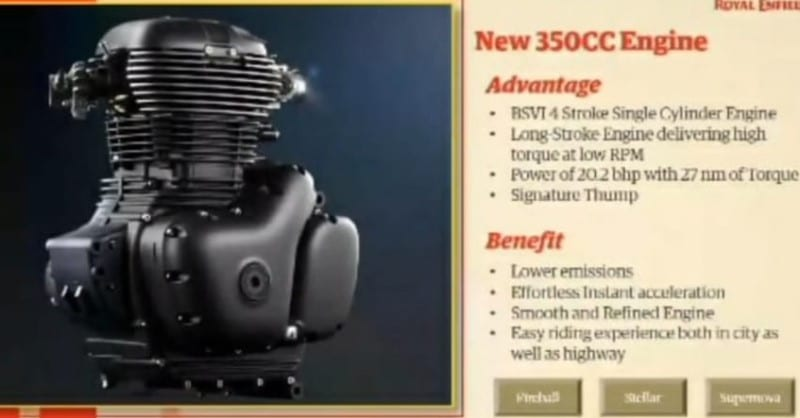 Royal Enfield Meteor 350 Engine Specs