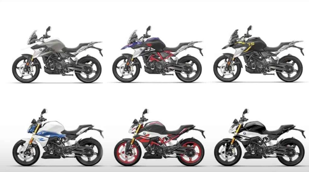 2020 bmw g 310 r and g 310 gs color