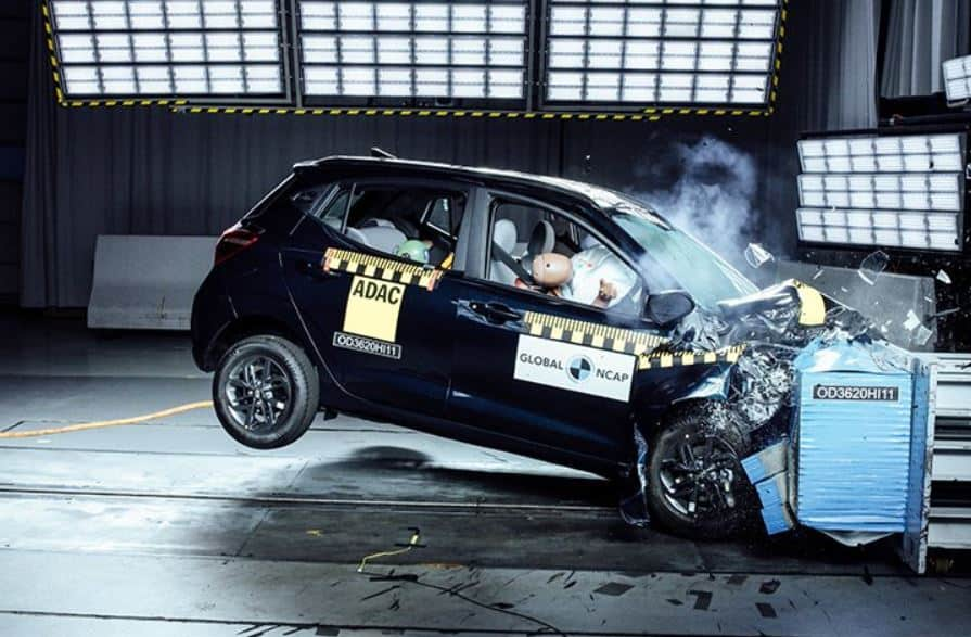 hyundai grand i10 nios crash test