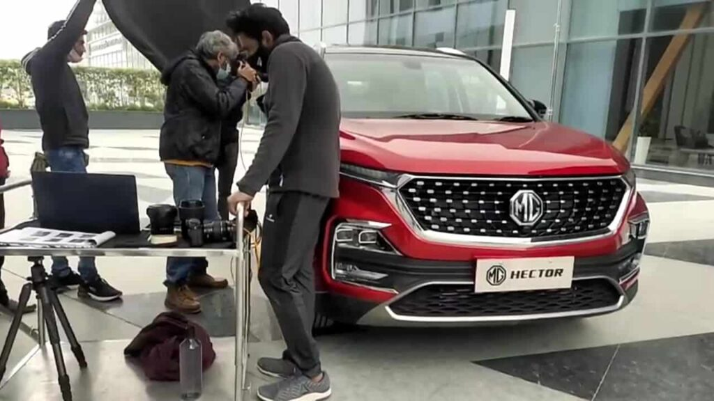 mg hector facelifted spotted