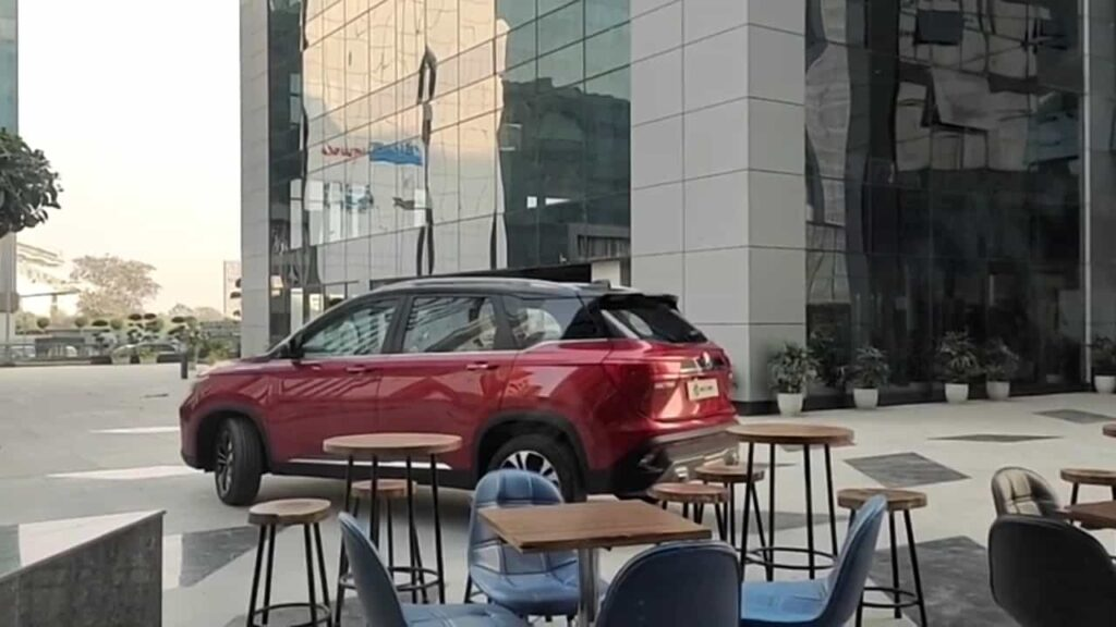 mg hector facelifted spotted rear