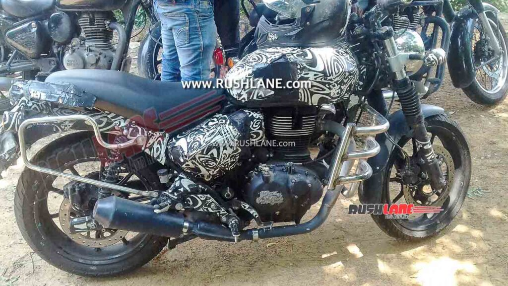 2021 royal enfield hunter 350 spied